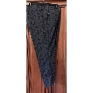 NYDJ Plus Checked Ankle Pant 22W